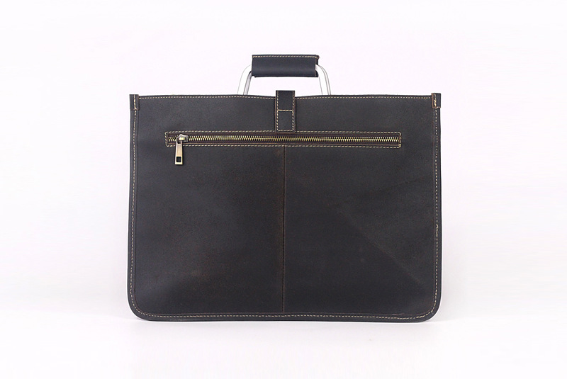 2019 new style leather rectangle thin business bag office laptop bags