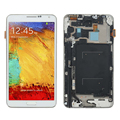 White For Samsung Galaxy NOTE 3 III N9005 LCD Display + Touch Screen with Digitizer + Bezel Frame Full Assembly , Free shipping