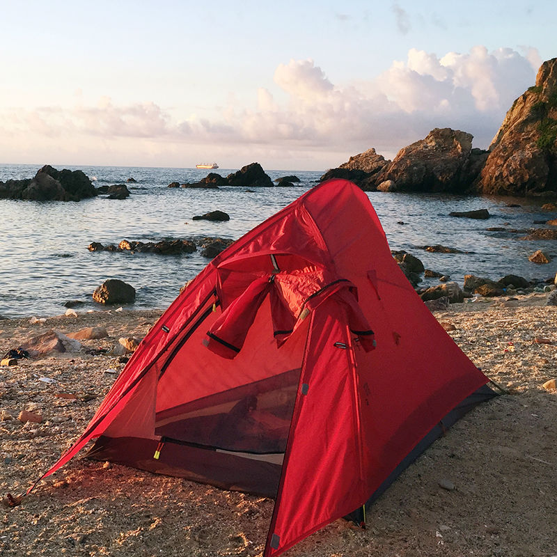 Light weighting Ultralight Camping Tent Double Layer Waterproof 15D Nylon Silicon Coated Single Tents Aerospace Aluminum