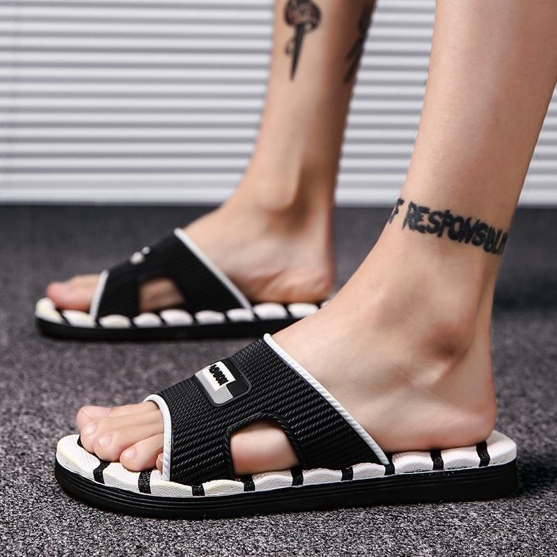 Mens Slippers Flip Flops Summer Men's New Style Rubber Soft Shoes Outdoor Beach Sandals Men's Slippers Men Massage Sandals 2018 стоимость