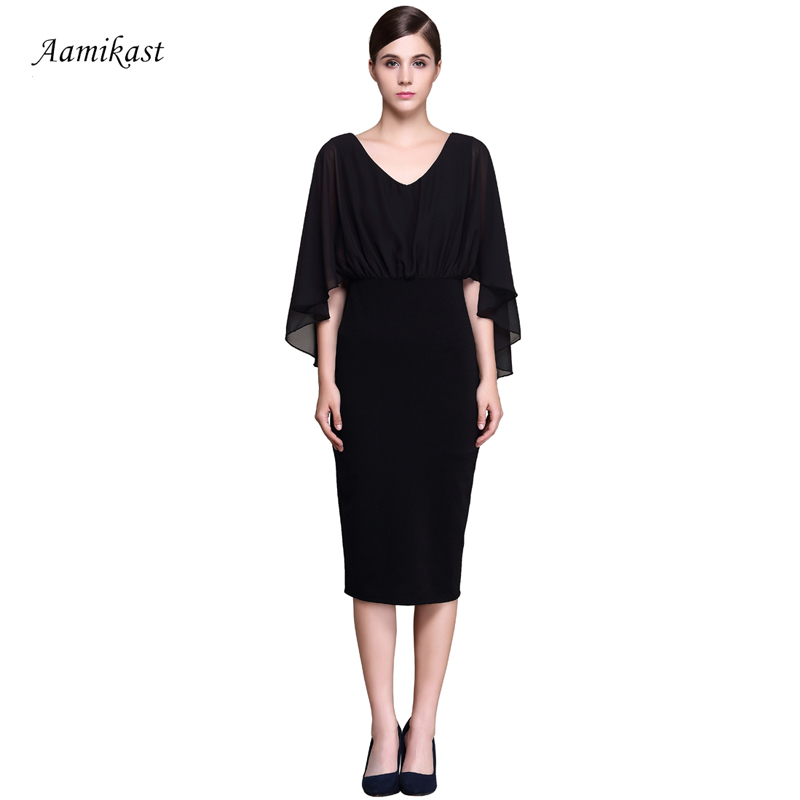 487cdf4411947 US $13.99 30% OFF AAMIKAST Women Dresses Celeb New Fashion 2018 Elegant V  neck Sexy Business Dresses-in Dresses from Women's Clothing on ...