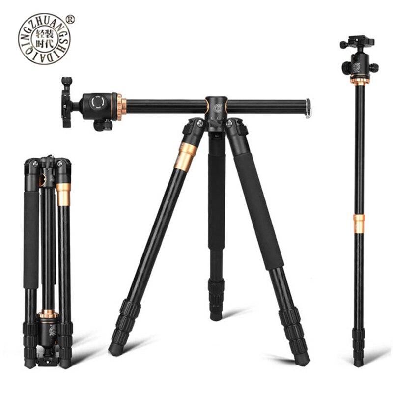 QZSD Q999H Portable Monopod Professional Camera Tripods With 360 Degree Ball Head Quick For Canon Nikon Sony DSLR Cameras DV