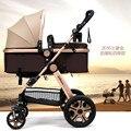 Promoção!! Leve Carrinho de Bebê de quatro Rodas Sólidas, New Arrival Ultraleve Carrinho de Bebê, Azul Bebê Carrinho de criança Dobrável Carro Do Bebê