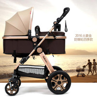 Promotion!! Four Solid Wheels Lightweight Baby Stroller,New Arrival Ultralight Trolley Baby,Blue Baby Pushchair Folding Baby Car