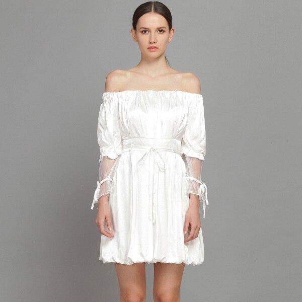 Free Shipping! YIGELILA Women Fashion White Christmas Party Dress ...
