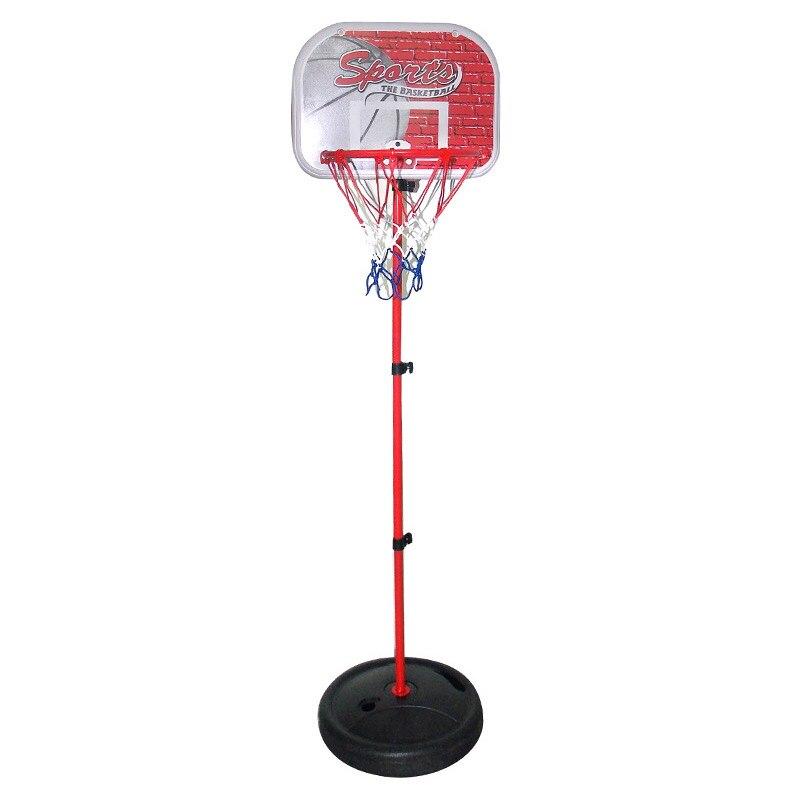 Niños ajustable soporte del baloncesto aro interior de tiro al aire libre juguete con poste de Metal