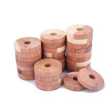 Прямая поставка, 12 шт., кедровый деревянный блок, кедровое деревянное кольцо, деревянный круглый платяной шкаф, натуральный чистый репеллент от насекомых, камфорные шарики от моли