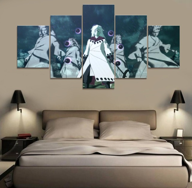 Anime NARUTO Uchiha Madara Modern Home Decor Picture Wall Art Canvas Painting HD Printed Poster Paintings Canvas Wall Art