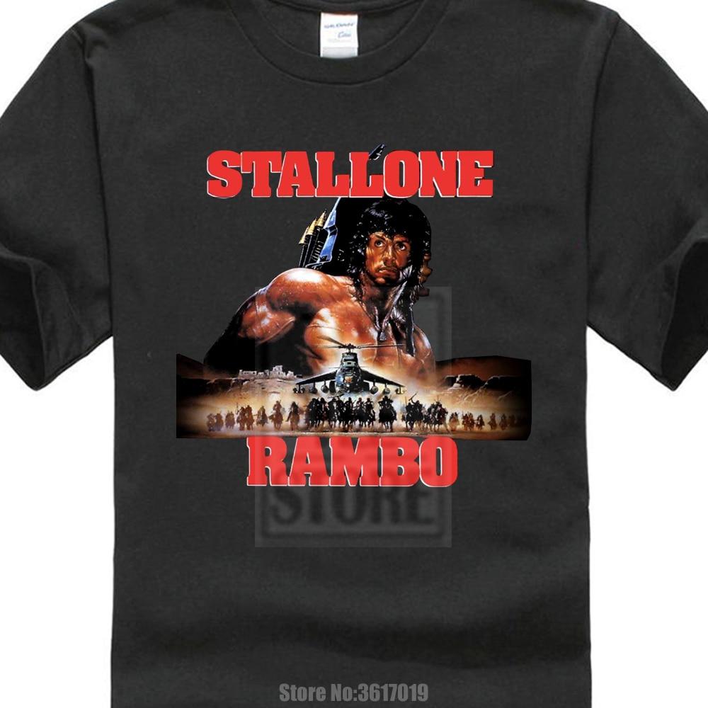 d445a25efc Pamut póló Új Rambo Sylvester Stallone Klasszikus filmes ...