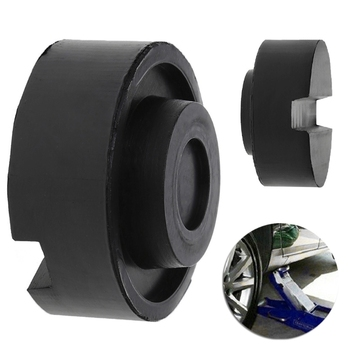 Black Rubber Slotted Floor Jack Pad Frame Rail Adapter For Pinch Weld Side Pad new black rubber slotted floor jack pad frame rail adapter for pinch weld side pad