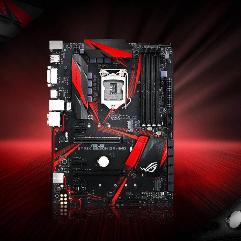 ROG STRIX B250H GAMING Desktop Motherboard LGA 1151 I7 I5 I3 14nm 4 * DDR4 Soutien 64g 6 * SATA3 2 * M.2 ATX Carte Mère