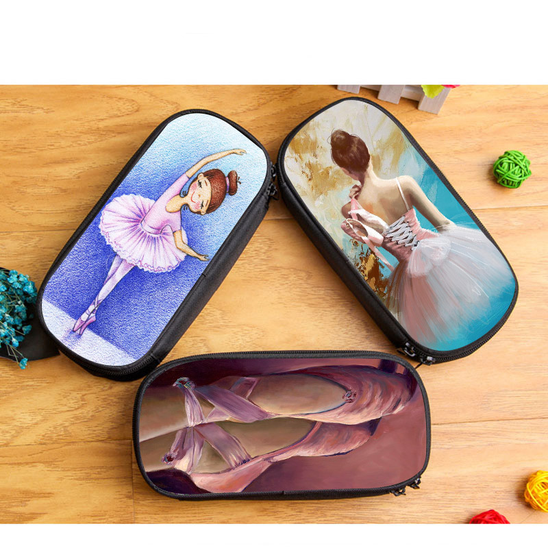 Boot Shoe Shaped Girls Pencil Case Blue Dots School Stationery Pouch