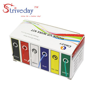 Image 4 - Cabo de arame flexível kit de fio, arame de silicone flexível cobre 6 cores, 30/28/26/24/22/20/18awg pacote de linha de cobre elétrica diy