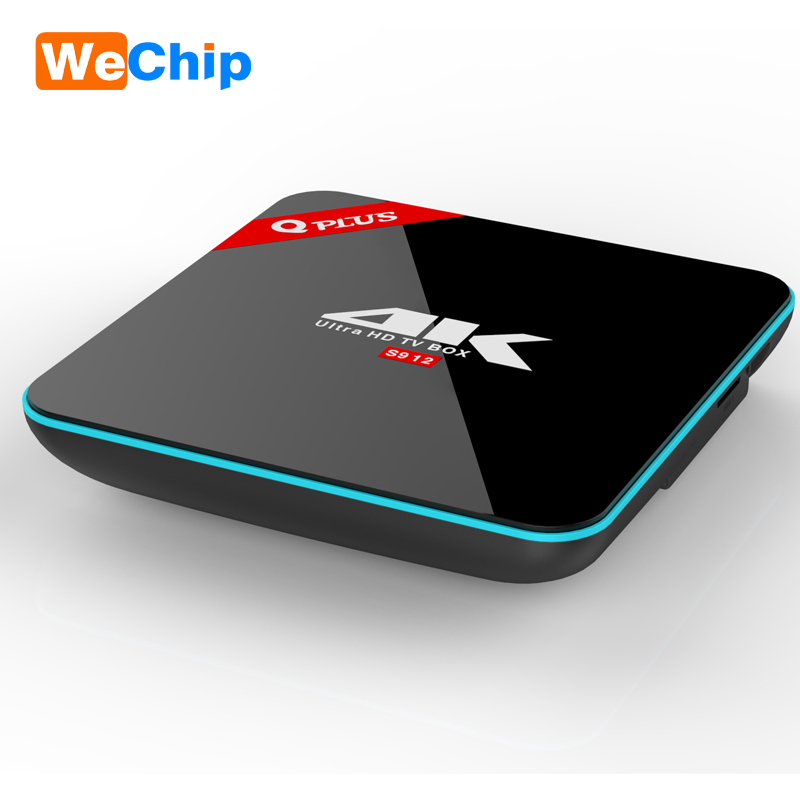 [Q Plus] Amlogic S912 Android 7.1 TV BOX Octa Core 2.4G+5G WiFi 2G/16G 3G/32G Smart BT4.0 Fully Load 4K H.265 Media Player H96+
