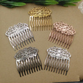 20pcs/lot---55x60x35mm filigree  10 teeth hair comb  for diy materials---color option