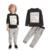 Bebê menino roupas 2016 Novos Outono e Inverno Cinza Escuro t-shirt de manga comprida + calças compridas casual 2 pc terno crianças roupas