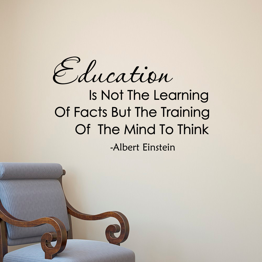 compare prices on education quotes wall sticker online shopping albert einstein quote education is not the learning of facts vinyl wall art decals learning classroom