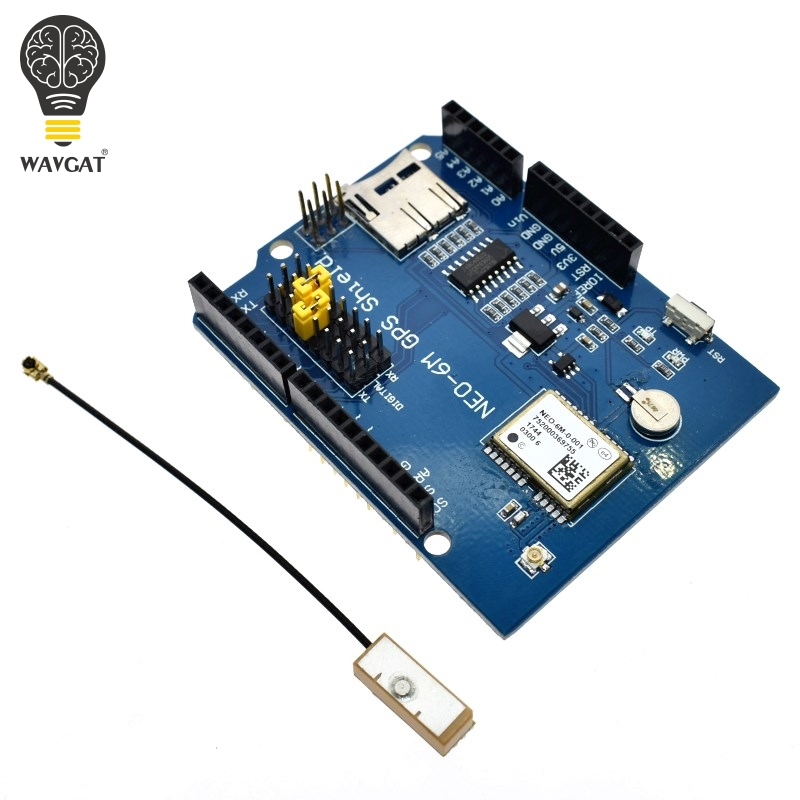WAVGAT NEO-6M GPS Logger Shield Expansion Board Module Shield SPI UART w/ SD Card Slot for Arduino UNO R3 ONEWAVGAT NEO-6M GPS Logger Shield Expansion Board Module Shield SPI UART w/ SD Card Slot for Arduino UNO R3 ONE