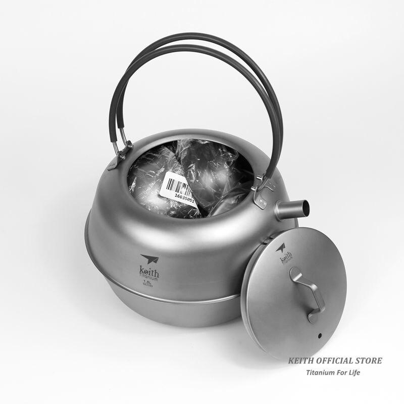 Keith Titanium 12 pièces en 1 chinois KongFu thé Set crépine Portable en plein air Camping tasse Drinkware ultraléger 1.5L 522g Ti3930 - 6