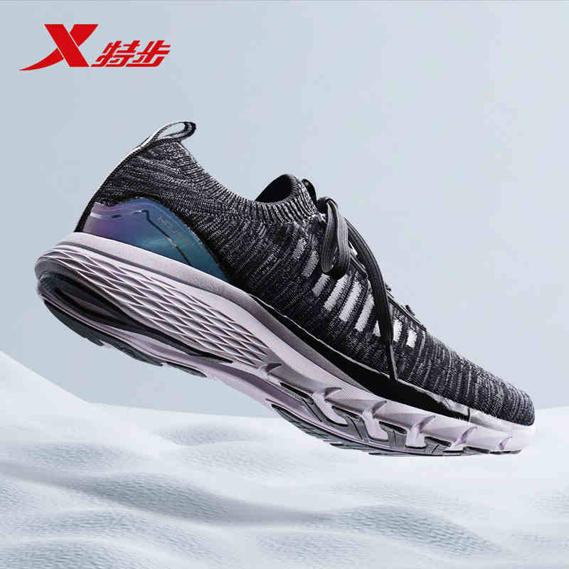 Xtep X-Flow Fashion Men's Women Running Shoes Shock Absorbing Sock Shoes Lightweight Breathable Unisex Running Shoe 982219119573