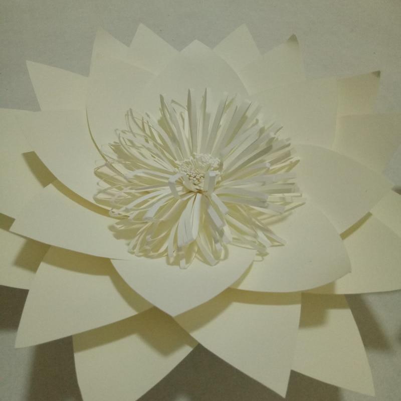 DIY Half Made Handmade Raksasa Bunga Kertas Untuk Pernikahan Latar - Hari libur dan pesta