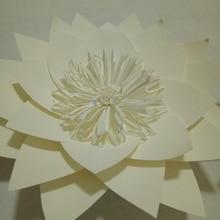 DIY Half зробив ручної роботи гігантські паперові квіти для весільних фонових малюнків Різдвяні святкові прикраси 5 різноманітних опцій стилю квітів