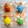 Squishies wholesale 20pcs kawaii squishy lot Turtle Tortoise Bread Bun squishy with tags strap for cell phone toys Free Shipping