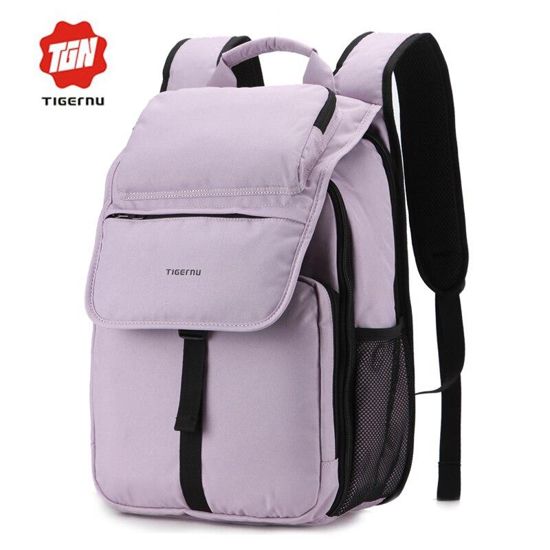 ФОТО 2017 Tigernu Korea Style Backpack women Bagpack Travel Waterproof Laptop Backpack women backpack for teenage girls school bags