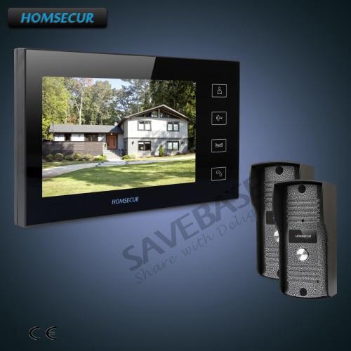 "HOMSECUR 7"" Hands-free Video Door Phone Intercom System+Outdoor Monitoring with RU Logistics"