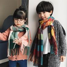 Детский мягкий шарф из искусственного кашемира в клетку с красивым рисунком из приятного материала, длинный шарф из пашмины