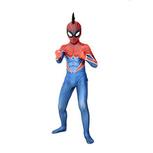 Hoge Kwaliteit Kids Spider-Punk Geddon 3D Print Skin Tight Spiderman Party Zentai Pak Jongens Halloween Cosplay Carnaval Kostuum(China)