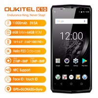 OUKITEL K10 6 0 18 9 FHD Face ID 4G Smartphone Android 7 1 OS 11000mAh