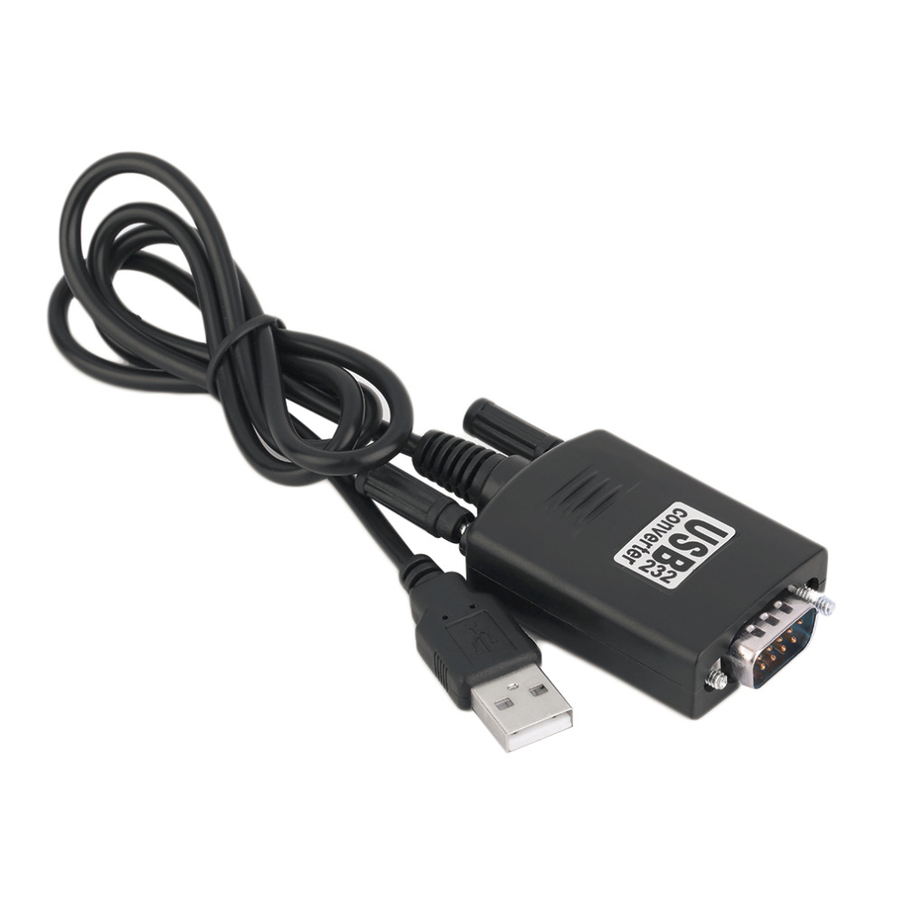 Free Shipping Black USB 2.0 to Serial RS232 DB9 9Pin Adapter Converter Cable for Win 7 Drop Shipping free shipping black usb 2 0 to serial rs232 db9 9pin adapter converter cable for win 7