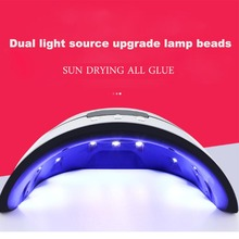 36W Nail Dryer LED UV Lamp Micro USB for Lamps Curing Gel Builder 3 Timed Mode with Automatic Sensor Dryers