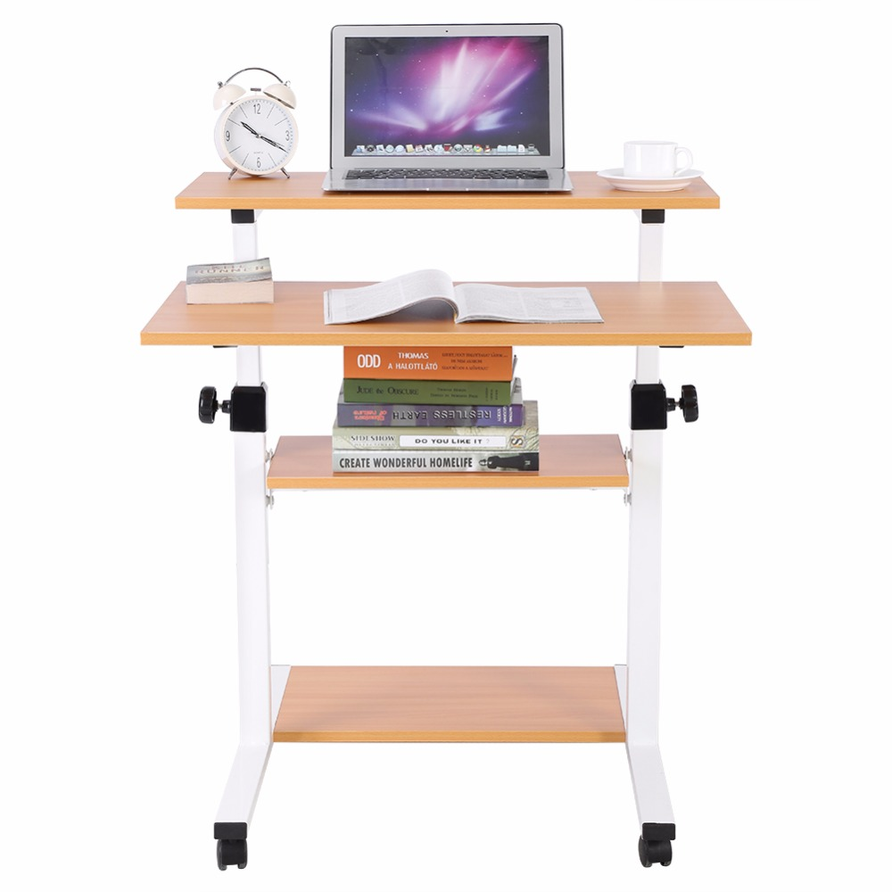 Laptop Desks Furniture Lifting Mobile Computer Desk Bedside Sofa Bed Notebook Desktop Stand Table Learning Desk Folding Laptop Table Adjustable Height