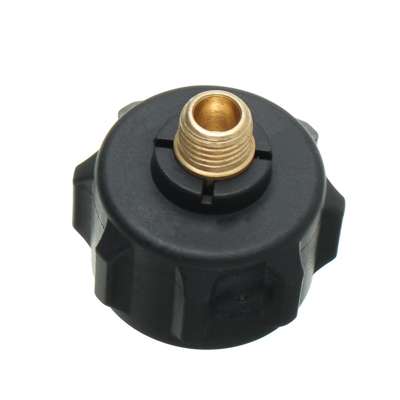 1/4 MNPT Propane QCC 1 Type 1 LP Gas Connector Heater Grill Smoker Stove Parts Plastic+Metal Black Gas Cylinder Valve