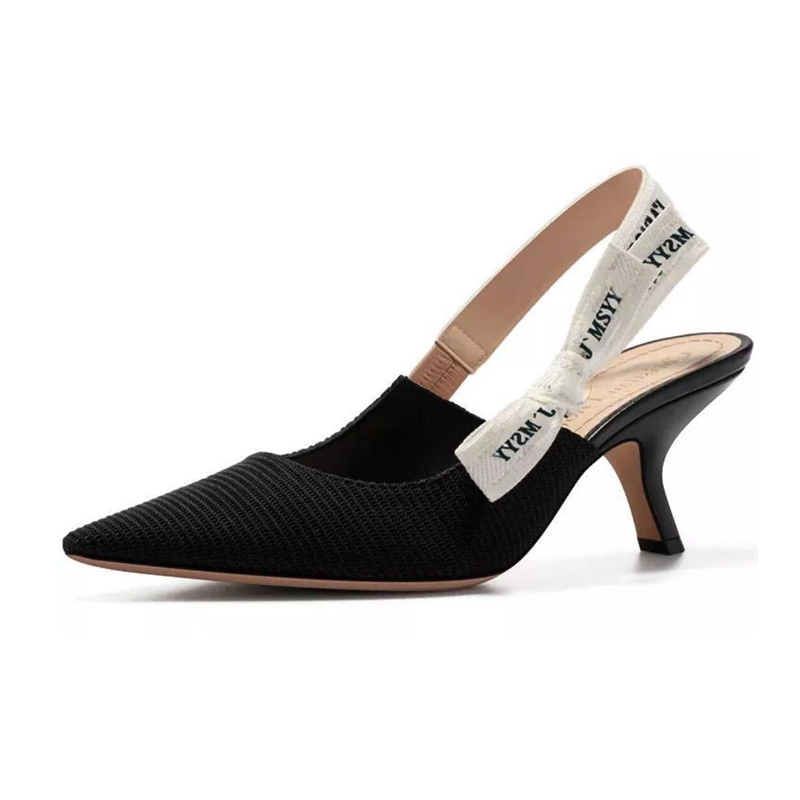 Butterfly Knot Belt Slingbacks 5 5cm High Heels Women Dress Shoes Summer Fashion Ladies Shoes