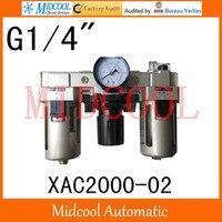 Hoge kwaliteit XAC2000-02 serie luchtfilter combinatie frl poort g1/4