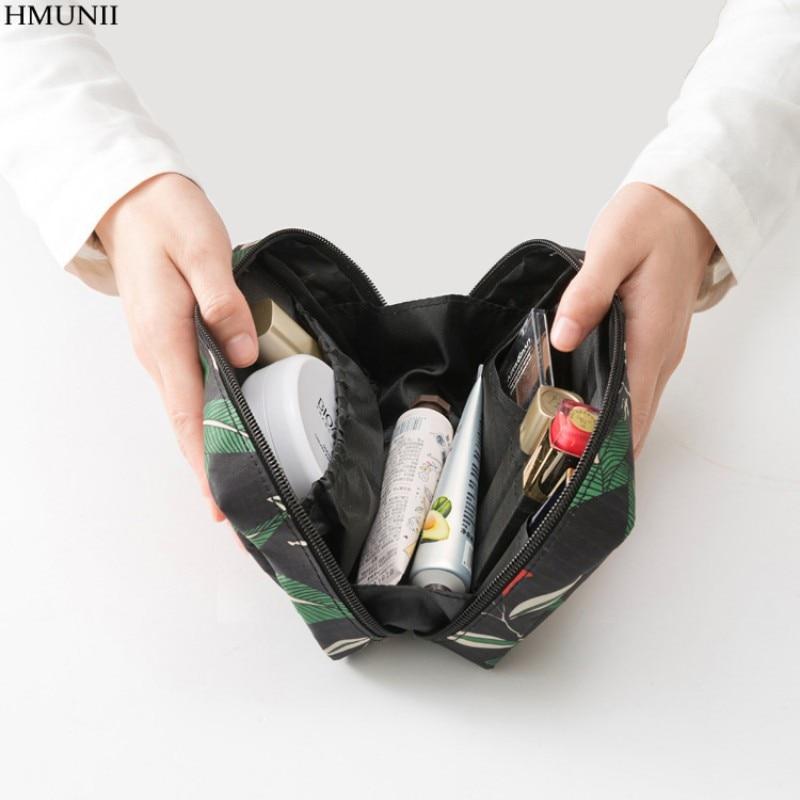 Hmunii Водонепроницаемый Travel Kit polyster несессер Сумки печати Для женщин косметичка для составляют Малый Макияж упаковка Организации