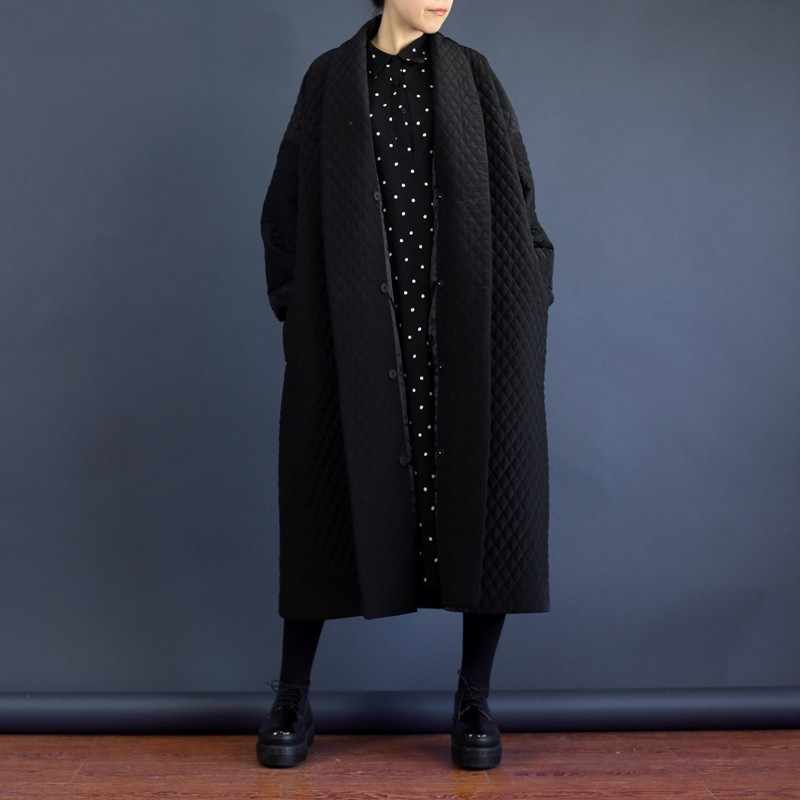 LANMREM 2019 European Highest Quality Jacket Autumn Women Large Size Long Loose Black Windbreaker Long Trench Coat WTH1201