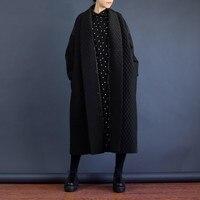 LANMREM 2019 European Highest Quality Jacket Autumn Women Large Size Long Loose Black Windbreaker Long Trench Coat WTH1201