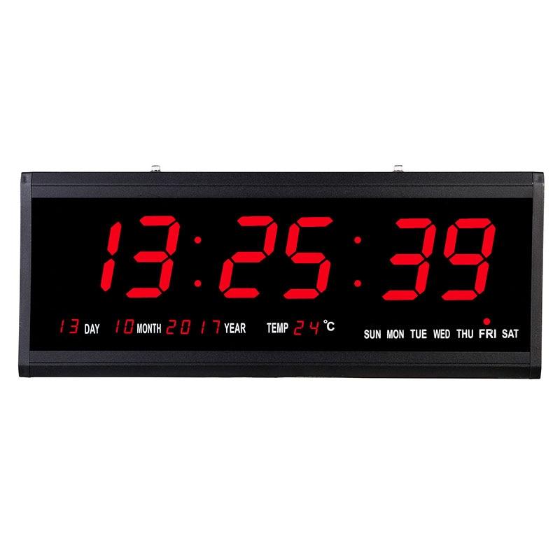 Super Big Electronic Wall Clock Digital Desk Table LED Wall ...