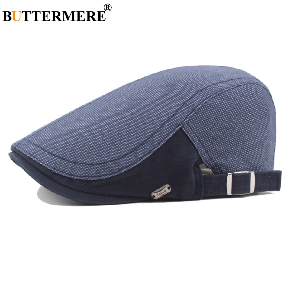 BUTTERMERE Hats Flat-Cap Plaid Summer Beret-Hat Navy Spring Gatsby-Style Classic Adjustable