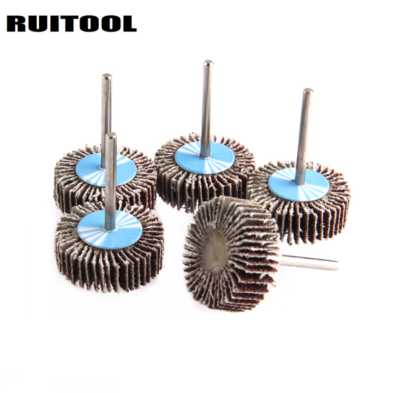 RUITOOL 3*30mm Sanding Disc Flap Grinding Wheel 80 Grit Sand Paper Polishing Wheels For Dremel Accessories Rotary Tools