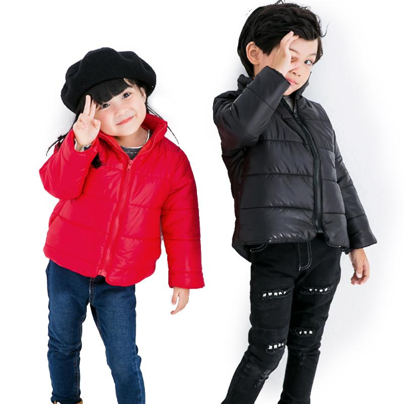 Red Baby Winter Jacket for Girls Boys Cotton Coat Down Thick Warm Children Clothes for 2 to 6 years old children winter coats jacket baby boys warm outerwear thickening outdoors kids snow proof coat parkas cotton padded clothes