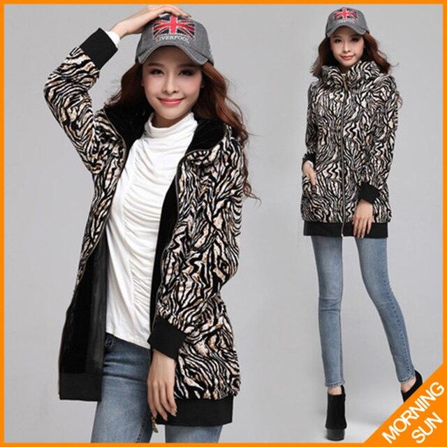 Pleuche зебра-полоса XL, XXL, XXXL плюс размер новый 2017 женщин дамы осень зима повседневная траншеи кардиганы пальто ветровка #287