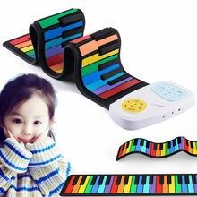 Цветное гибкое пианино для детей электронная клавиатура орган