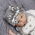 Bebé niña sombrero cabeza fetal lentejuelas arco rayas gorro de lana pro-Europa y los Estados Unidos de Navidad del bebé regalos