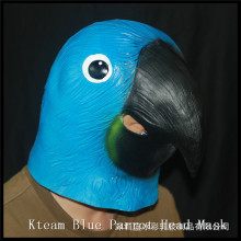 Top Design And Hot Sale Animal Parrot Mask Realistic Parrot Head Mask For Halloween Party Full Head For Adult size Cosplay Mask