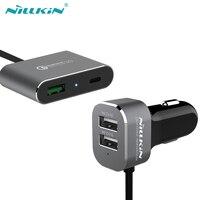 Nillkin powershare autolader quick charge 3.0 voor samsung s6 s7 edge s8 plus voor iphone 6s 7 xiaomi 5 5c 5 s Type-C